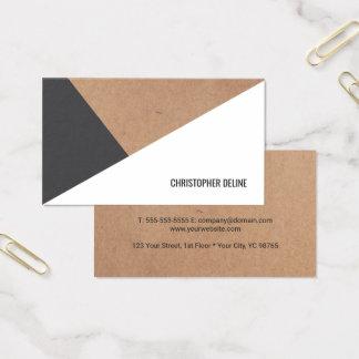 Modern Cool Kraft Paper Grey White Geometric