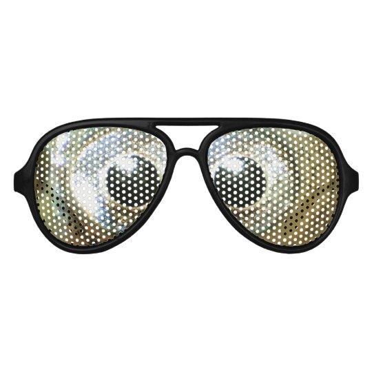 modern cool nerdy crazy crossed eyed goldfish eyes