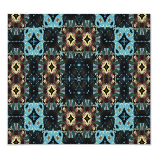 Modern cool pattern photographic print