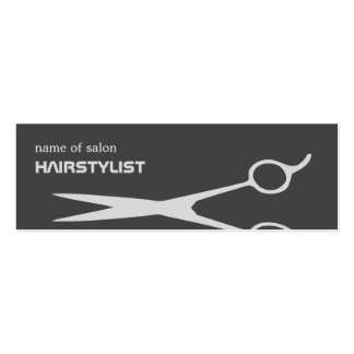 Modern Cool Scissor Silver Hair Stylist Pack Of Skinny Business Cards