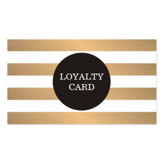 Modern Copper Striped Grey Beauty Loyalty Card Pack Of Standard Business Cards