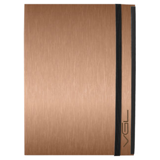 "Modern Copper Tones Metallic Look Background iPad Pro 12.9"" Case"