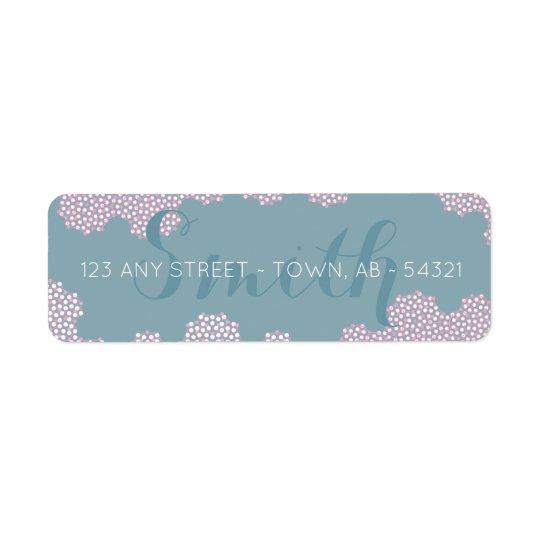 Modern Coral Bubbles Abstract Aqua & Pink Return Address Label