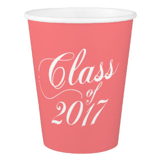 Modern Coral | Graduation Paper Cup