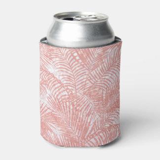 Modern coral pink faux glitter elegant palm tree
