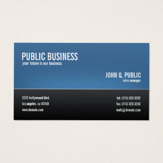 Modern Corporate Black and Blue Business Card