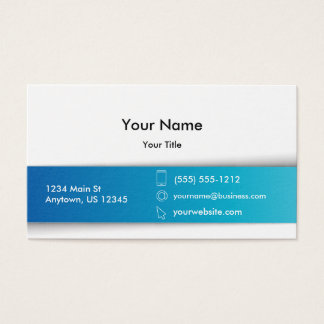 Modern Corporate Blue White Business Card