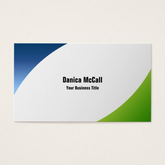 Modern Corporate Custom Business Cards