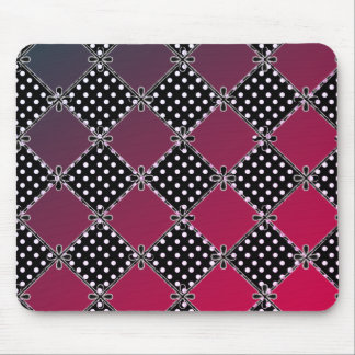 Modern-Country-Diamond's-Red's-Polka-Dots_Unisex Mouse Mat