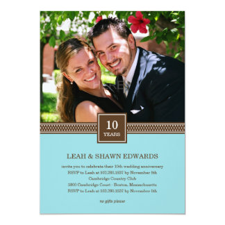Modern Couple Anniversary Invitation (Turquoise)