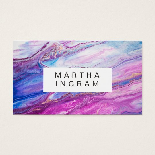Modern Creative Design Purple Galaxy Abstract Business Card