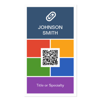 Modern Creative Flat Metro Style with QR Code Double-Sided Standard Business Cards (Pack Of 100)