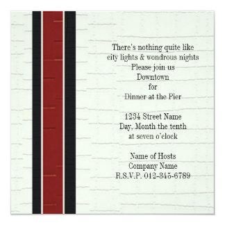 Modern Criss Cross 13 Cm X 13 Cm Square Invitation Card