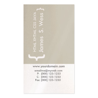 Modern CSS HTML Computer Programer Techie Pack Of Standard Business Cards
