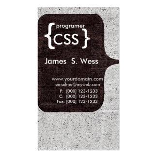 Modern CSS  Programer Computer Software Developer Business Cards