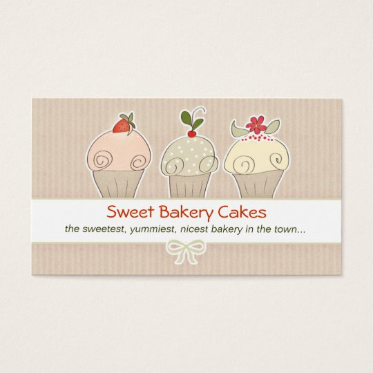 modern cupcakes business card