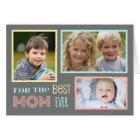 Modern Custom Photo Happy Mother's Day Card