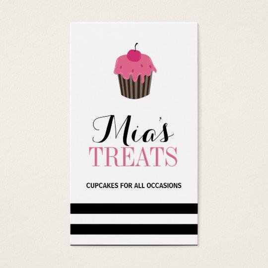 Modern Customisable Cupcake Business Card