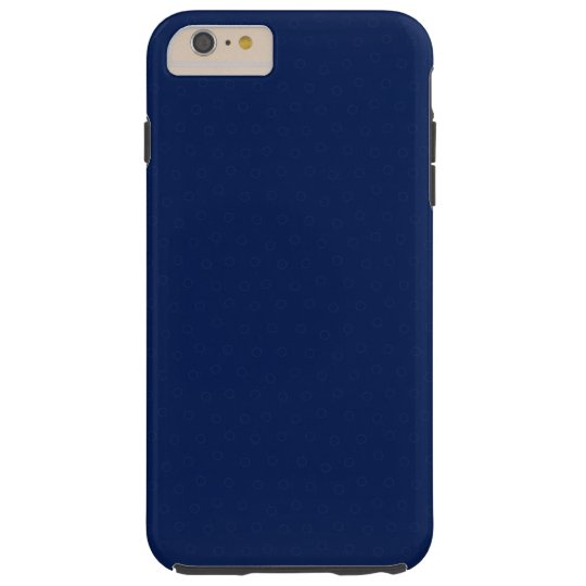Modern Customisable Royal Navy Blue, Tough iPhone 6 Plus Case