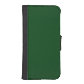Modern Customizable Forest Green iPhone SE/5/5s Wallet Case