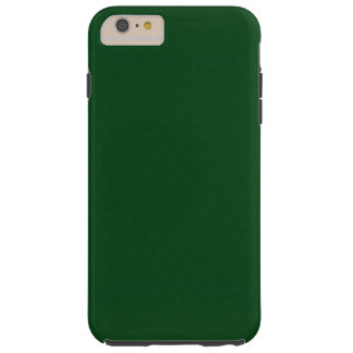 Modern Customizable Forest Green, Tough iPhone 6 Plus Case