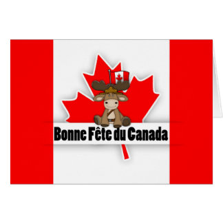 Modern Cut Out Effect French Canadian Bonne Fete Greeting Card