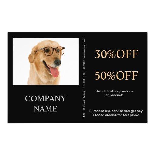 Modern cute animals pet service beauty salon flyers