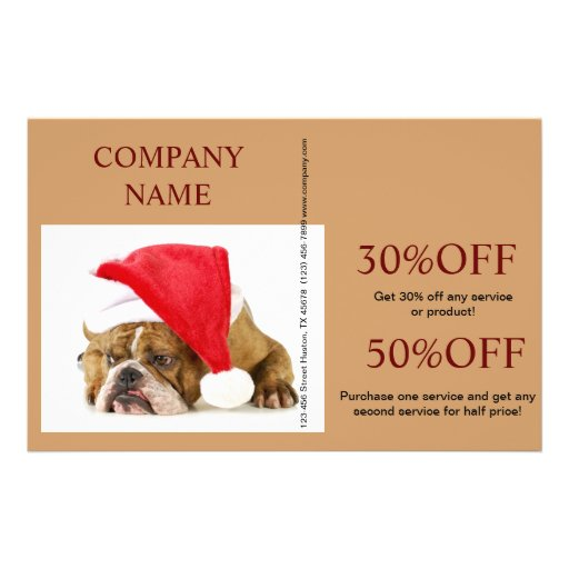 Modern cute animals pet service beauty salon personalized flyer