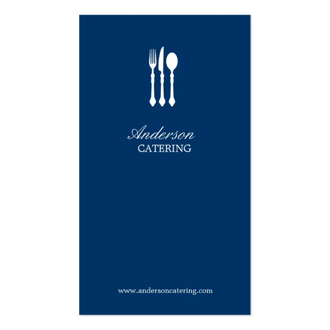Modern cutlery chef catering restaurant groupon business for Catering business cards samples
