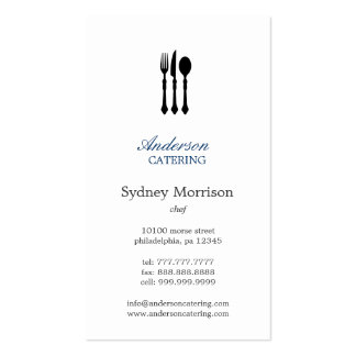 Modern Cutlery Chef/Catering/Restaurant Pack Of Standard Business Cards