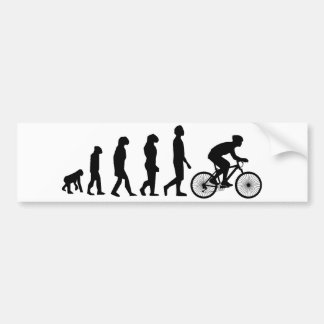 Modern Cycling Human Evolution Scheme Bumper Sticker