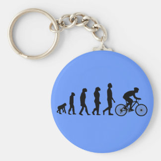 Modern Cycling Human Evolution Scheme Key Ring