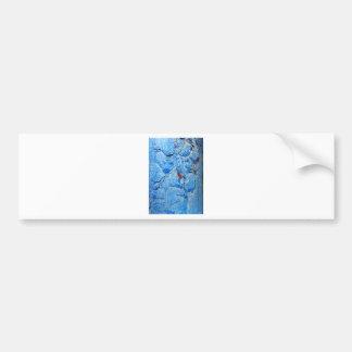 Modern Dacay Design With Striking Pealing Blue Bumper Sticker