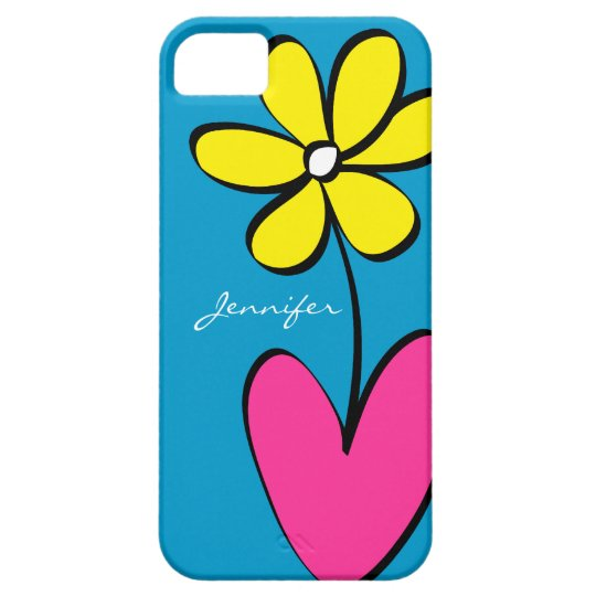 Modern Daisy Personalised iPhone 5/5S Case