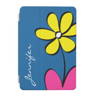 Modern Daisy Personalized iPad Mini Cover - Blue