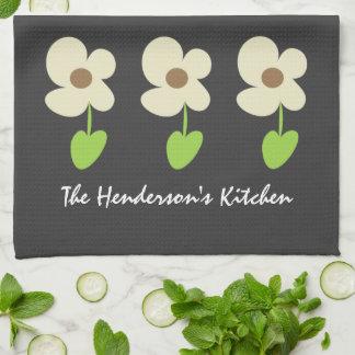 Modern Daisy Personalized Kitchen Towel