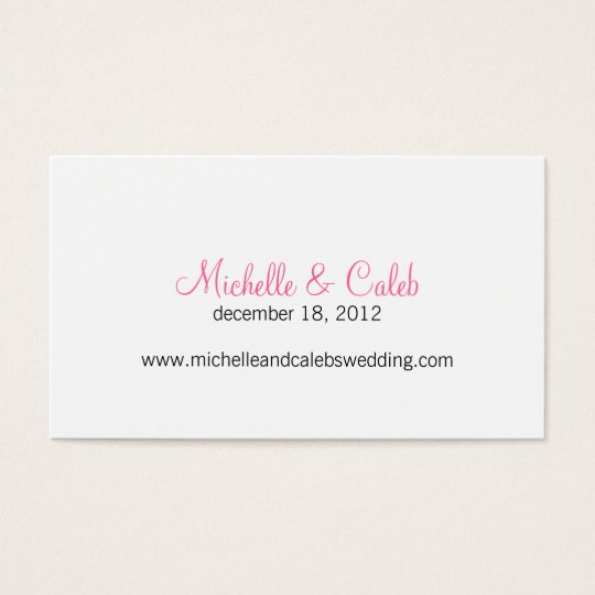modern daisy wedding website business card