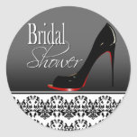 Modern Damask Stiletto Bridal Shower