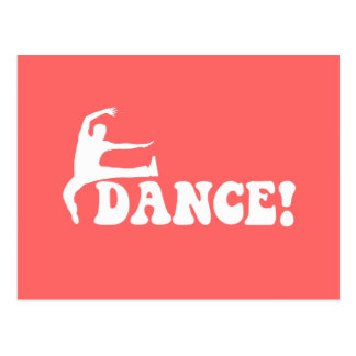 modern dance postcard