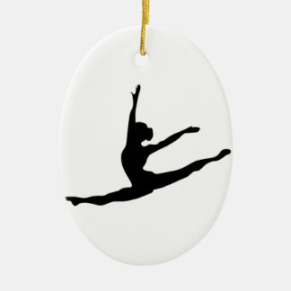 Modern Dancer Ceramic Oval Decoration