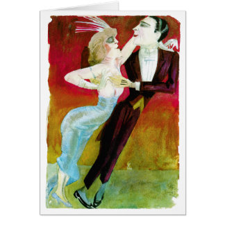 Modern Dancing Couple by Otto Dix Greeting Card