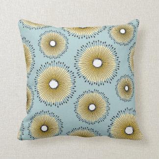 Modern Dandelion Flower Pattern Patina Green Cushion
