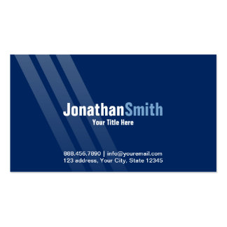 Modern Dark Blue With Stripes Business Card