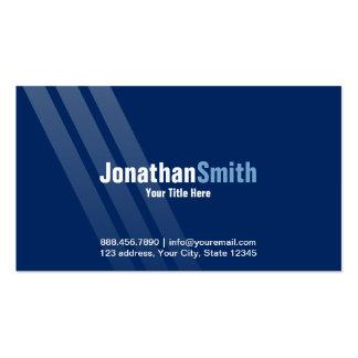 Modern Dark Blue With Stripes Business Card