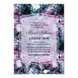 Modern Dark Moody Florals Bridal Shower Card