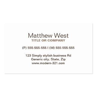 Modern dark oak wood grain professional profile pack of standard business cards
