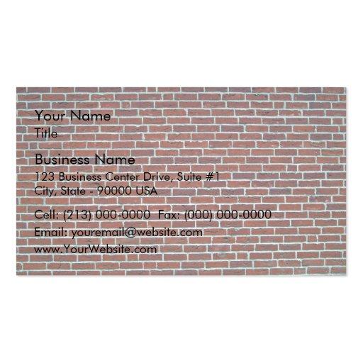 Modern Dark Red Brick Wall Background Business Card