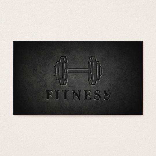 Modern Dark Rock Dumbbell Personal Trainer Fitness Business