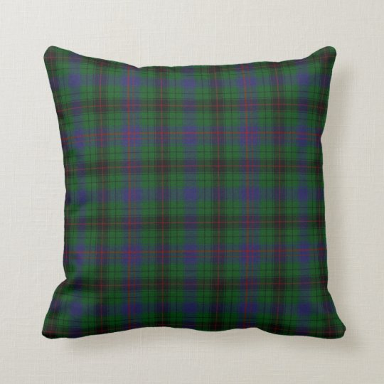Modern Plaid Pillow : Modern Davidson Tartan Plaid Pillow Zazzle