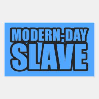 modern-day-slave rectangular sticker